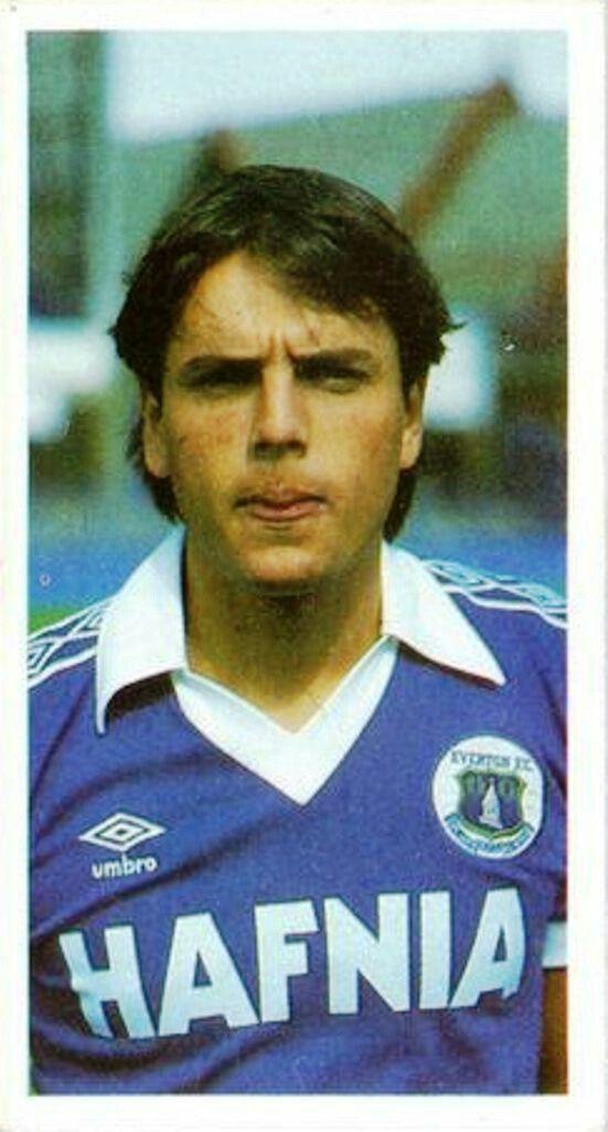 Graeme Sharp of Everton in 1981.