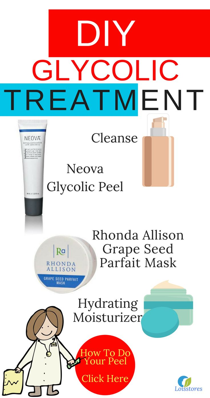 Click to get instructions on how to do a glycolic peel at home.