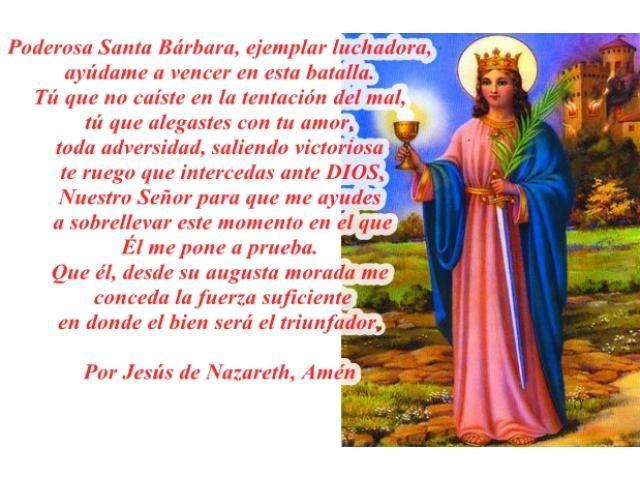 Oraci�n a Santa B�rbara Muy milagrosa - PONER ANUNCIOS.COM: Anuncios gratis