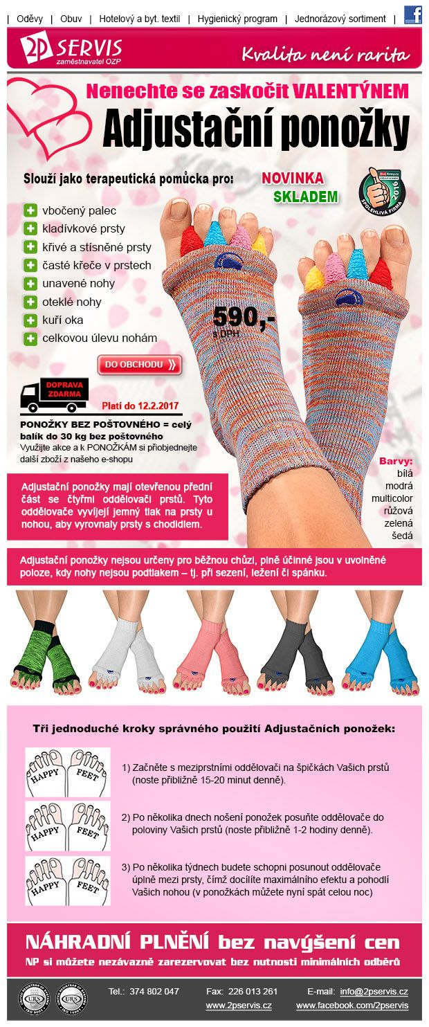 ★ ★ Adjustační ponožky - praktický a Originální dárek – do 12.2. doprava Zdarma ★ ★