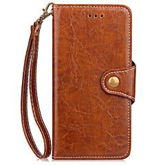 Veske deksel til iPhone 7 pluss 7 kortholder lommebok med stativ flip full body veske solid farge hard pu lær for iphone 6s pluss 6 se 5s – NOK kr. 89