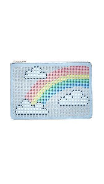 les petits joueurs Envelope Big Rainbow Pouch