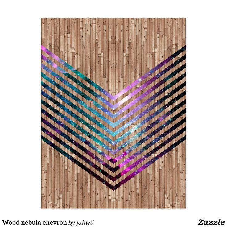 Wood nebula chevron postcard