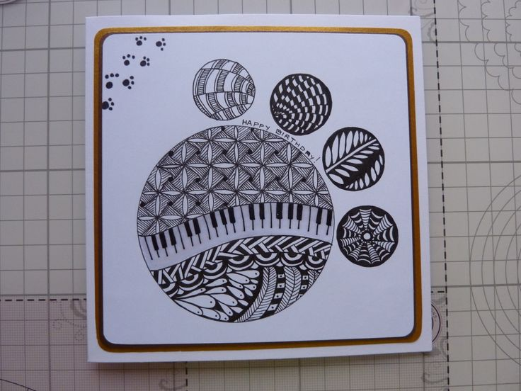 26 best zentangle and doodle my handmade cards images on pinterest