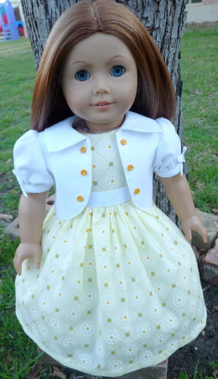 "18"" Doll Clothes Spring Dress For Easter Fits American Girl Emily, Molly, Kit, Ruthie"