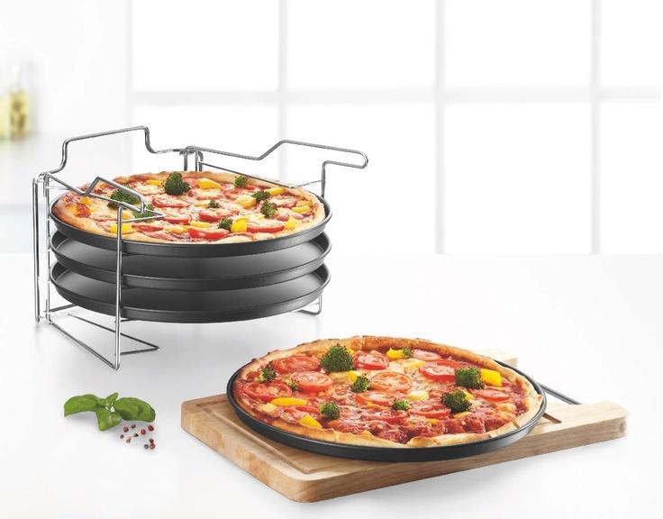 Gdy jedna pizza to za mało. Komplet blach do pizzy by Lidl.