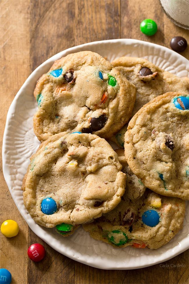 Small Batch M M Cookies Makes 9 Cookies And Easily Freezes Well