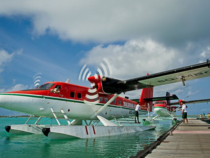 To fly passengers from island to island, the Maldivian airline operates the world's largest fleet of floatplanes—de Havilland Canada Twin Otters.