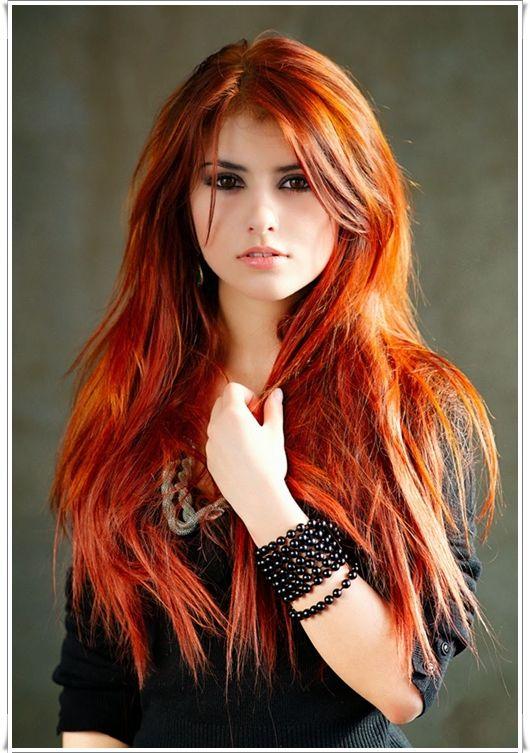 Dunkelbraune haare kupferrot farben