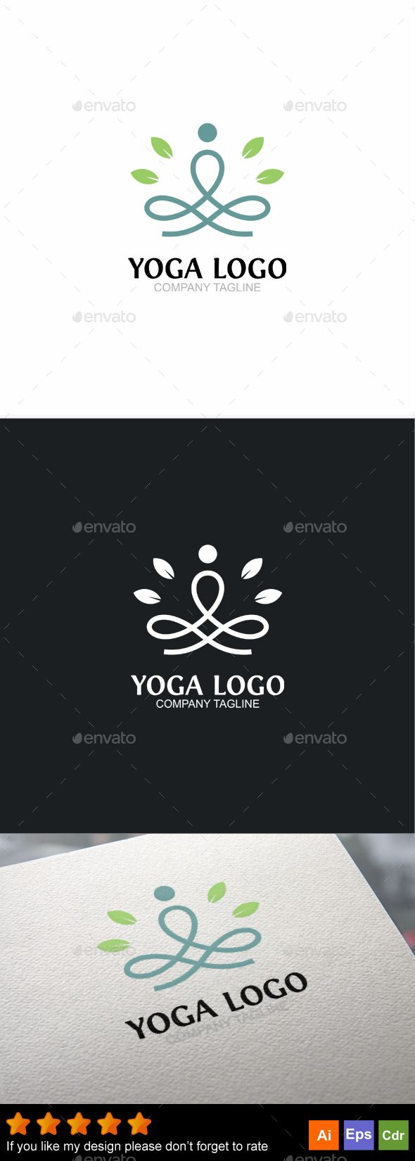 Yoga Logo  — EPS Template • Only available here ➝…