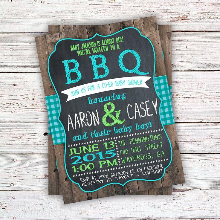 baby shower bbq invitation templates%0A BBQ Invitation  BBQ Baby Shower Invitation  BBQ Invite  BabyQ Shower   Custom