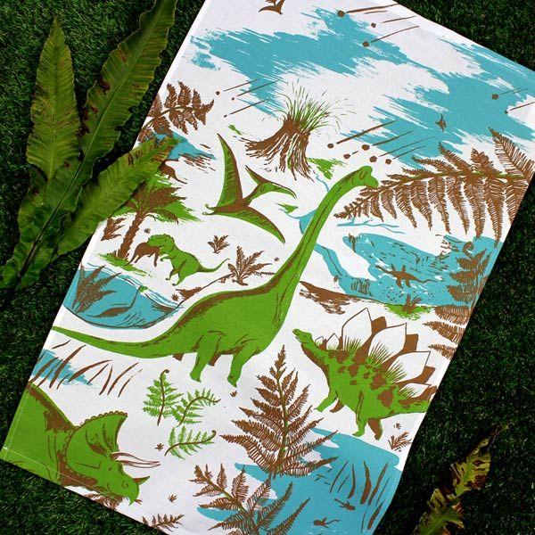 Drynosaurs tea towel - Designer tea towels from ToDryFor.com