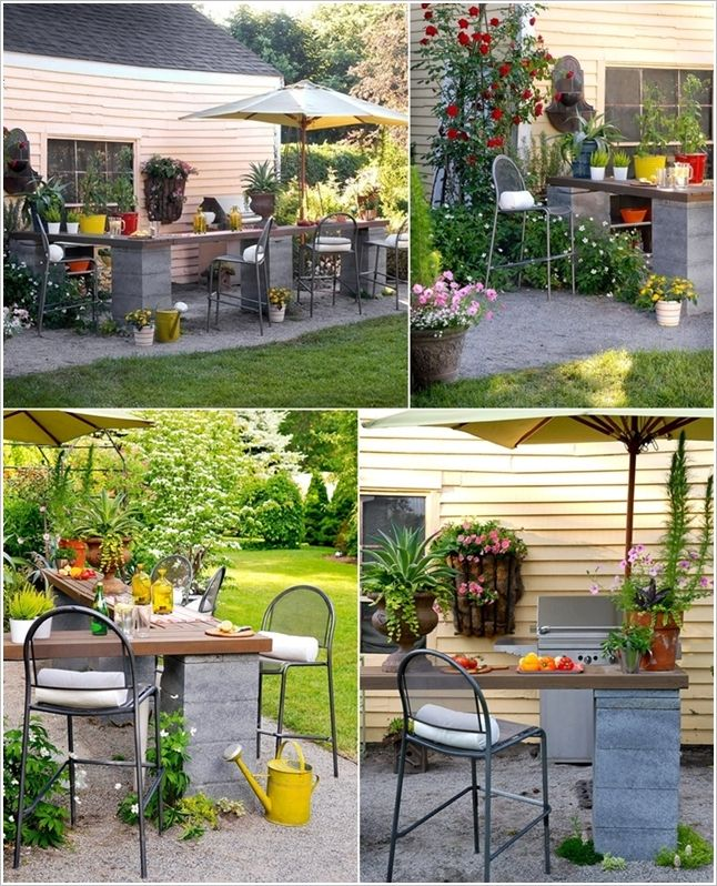 Concrete Blocks Rethinked as an Outdoor Dining