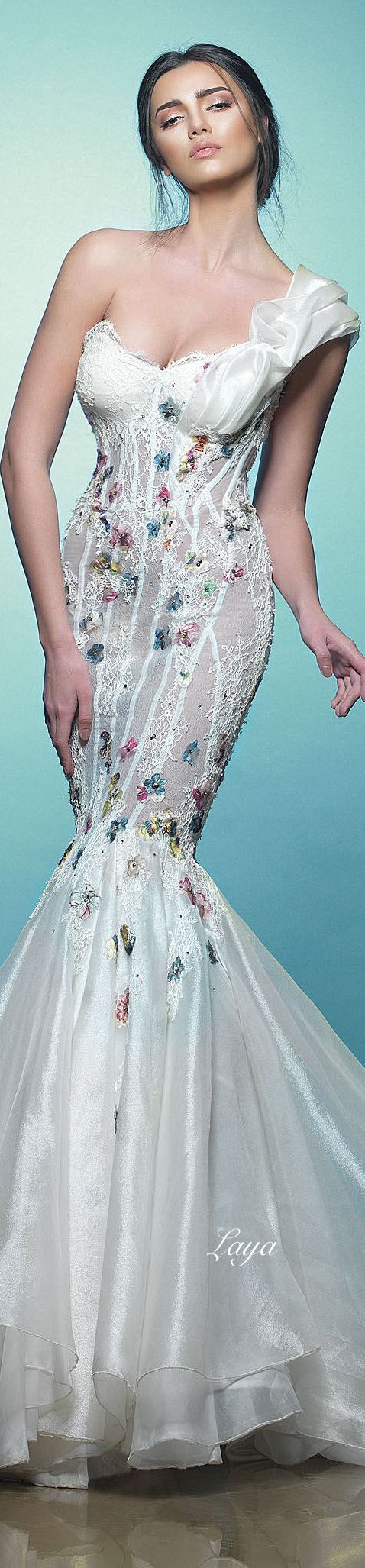 174 best Wedding Gowns: Floral Fantasy images on Pinterest | Brides ...