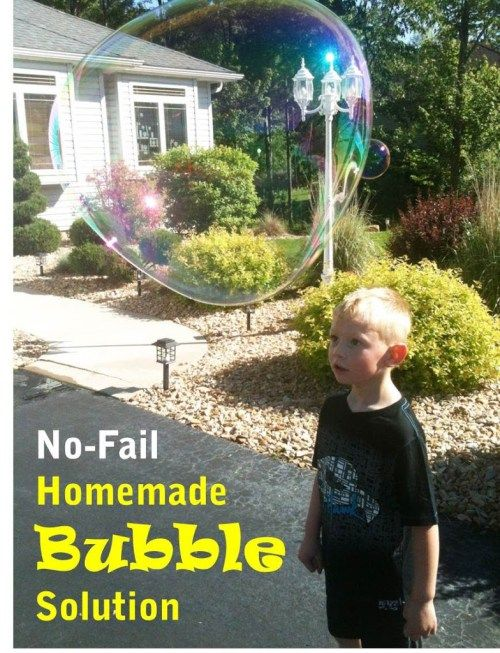 how to make bubble solution out of dish soap
