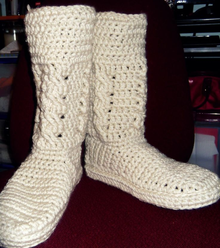 Free Crochet Patterns Booties For Adults : free crochet adult boot patterns by pinterest Free ...