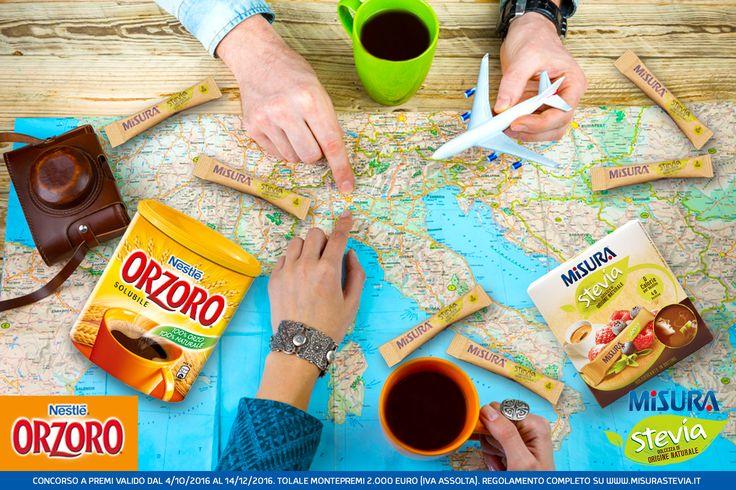 Orzoro e Misura Stevia sono ancora più buoni se gustati insieme in tutta Italia! Di qualunque città tu sia, non perderti il nuovo concorso My Italy is sweet di Misura Stevia, vai sul sito e scopri come partecipare.  #orzoro #Nestlé #MisuraStevia #stevia  http://www.misurastevia.it/page/my-italy-is-sweet/