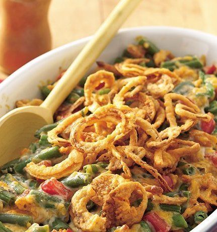 Recipe for Supreme Green Bean Casserole - A green bean casserole with a special touch when you want to impress your guests!