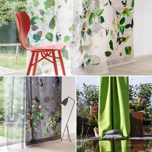 Gardinen und Dekorationsstoffe. Wir lieben den Sommer und die kräftigen Farben. Für weitere Dekorationsinspirationen: http://www.teppich-jordan.de/gardinen.html