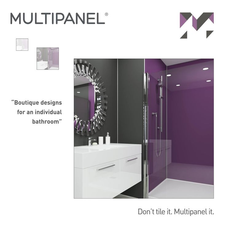"#WisdomWednesday ""Boutique designs for an individual bathroom"" www.multipanel.co.uk"