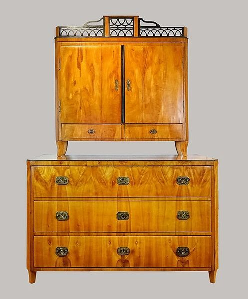 Aufsatzkommode Kirschbaum 1810 - Antiquitäten Daniel C. Nagel | Bad Honnef