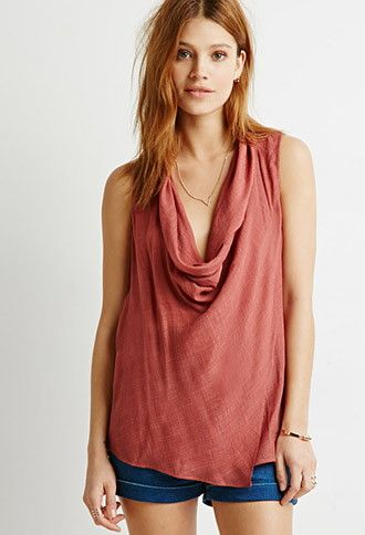 Contemporary Draped Wrap-Front Top   Forever 21 - 2000053076