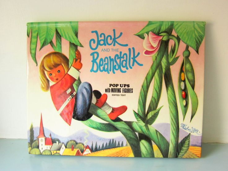 Vintage Jack and the beanstalk Children's pop up book, Child's fairy tail, hardback, story book, Retro toys, birthday gift, Christmas gift, by thevintagemagpie01 on Etsy