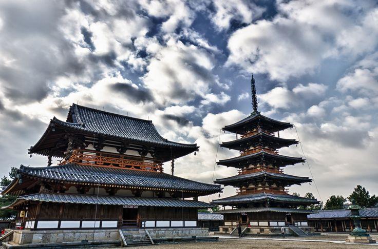 法隆寺金堂と五重塔 - Horyuji Temple, Kondo & five-story pagoda ...