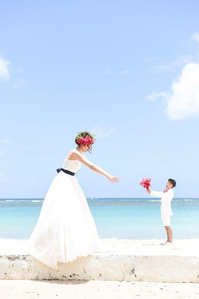 ハワイの美しい海をバックに撮影が出来るハワイ ビーチロケーションフォト!★ハネムーンと共に、挙式はしなくても、写真だけは残したい…