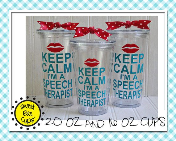 Personalized Slp Acrylic Cup Keep Calm Im A Speech
