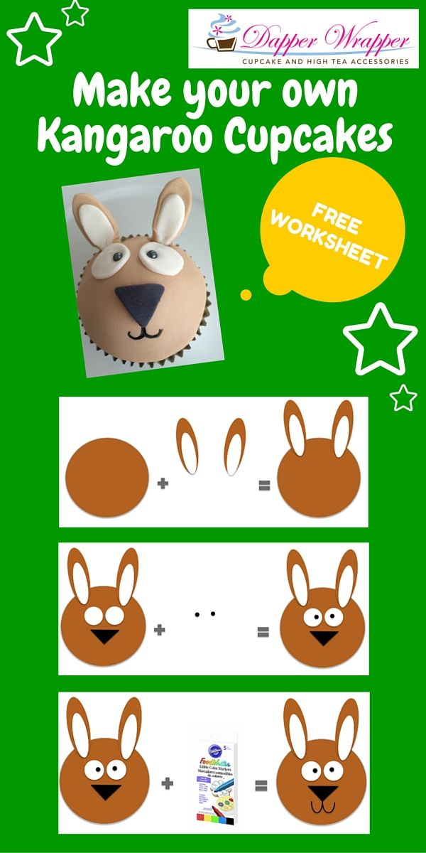 Make these easy Kangaroo's for Australia Day! Great school holiday activity. FREE downloadable worksheets available.