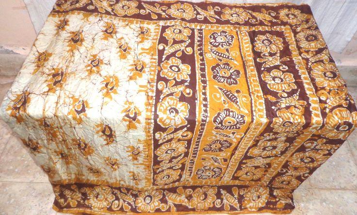 Cream Coffee Pure Silk Antique Sari Saree SALE ebay deals Lowest Cost NR #AL90A