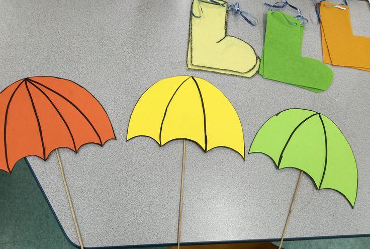 DIY Matching umbrella and boots