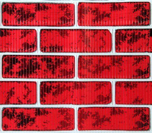 Brick Chimney Wrap : Christmas classic corrugated brick roll wrap chimney prop