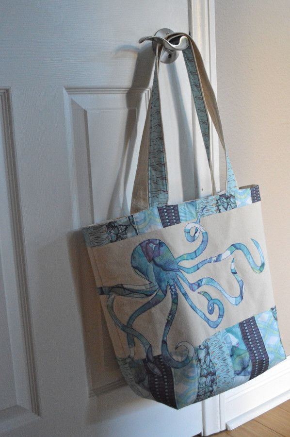 Beach-Bound Tote Bag with Blend Fabric TUTO