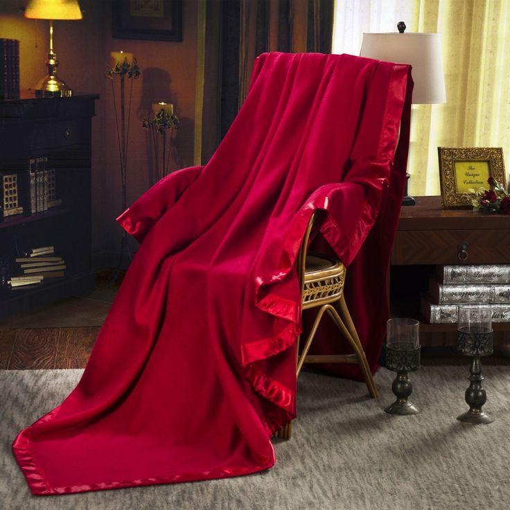 100% Mulberry Silk Blanket (Wine Red) - Snow Bedding