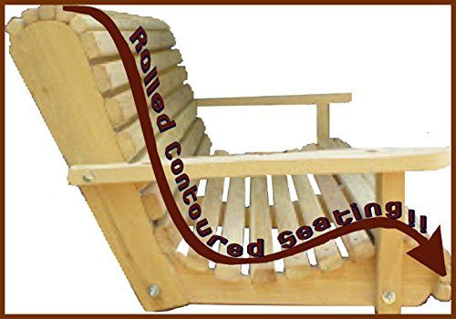 5 Five Feet Ft Made in the USA Cypress Lumber Roll Back Porch Swing with Rot-resistant Cypress Eternal Wood Ecommersify Inc http://www.amazon.com/dp/B00DTPJS06/ref=cm_sw_r_pi_dp_Um0evb0419A41