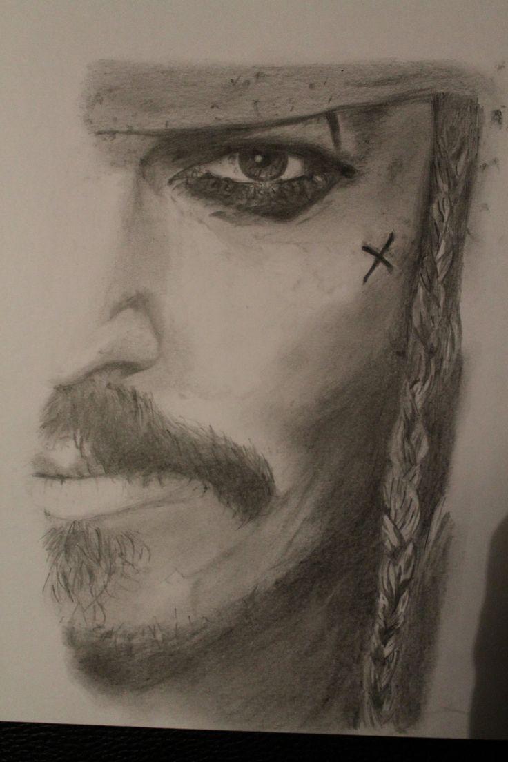 Dessin R Alis Aux Graphites Jack Sparrow De Pirates Des Cara Bes Dessins R Alistes Pinterest