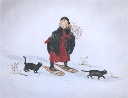 Laura in the Snow by Tasha Tudor