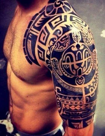 Diseños Originales De Tatuajes Tribales Para El Hombro Tattoos