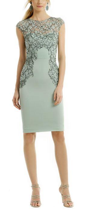 Gorgeous grayed jade dress by Lela Rose