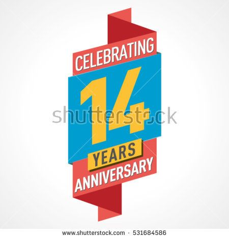 14 Years Anniversary Celebration Design.