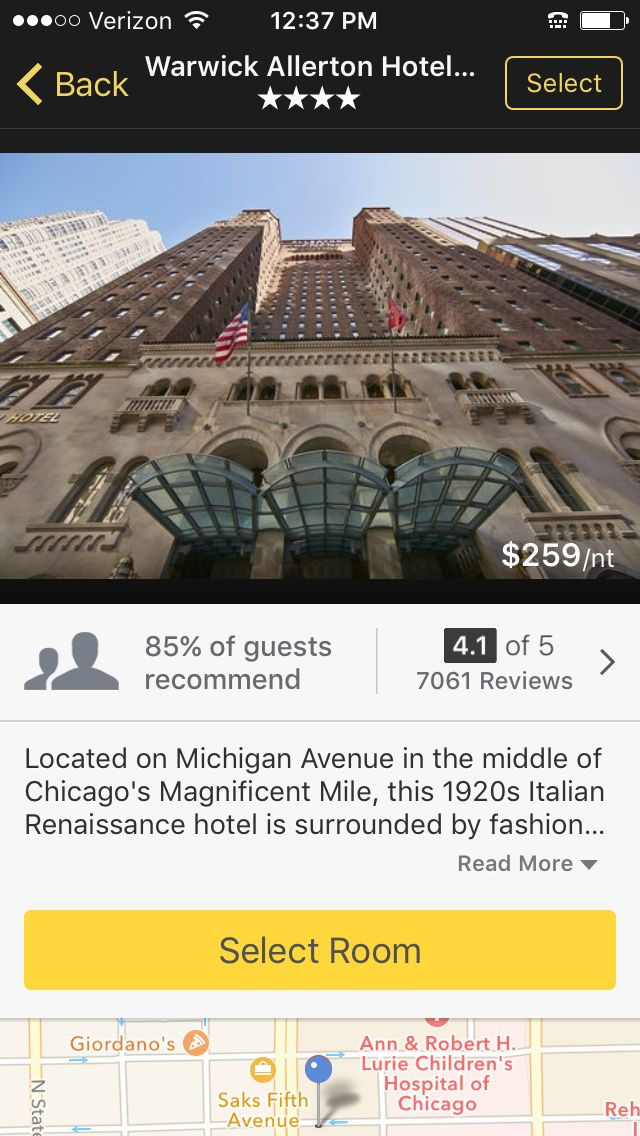 Expedia hotel information