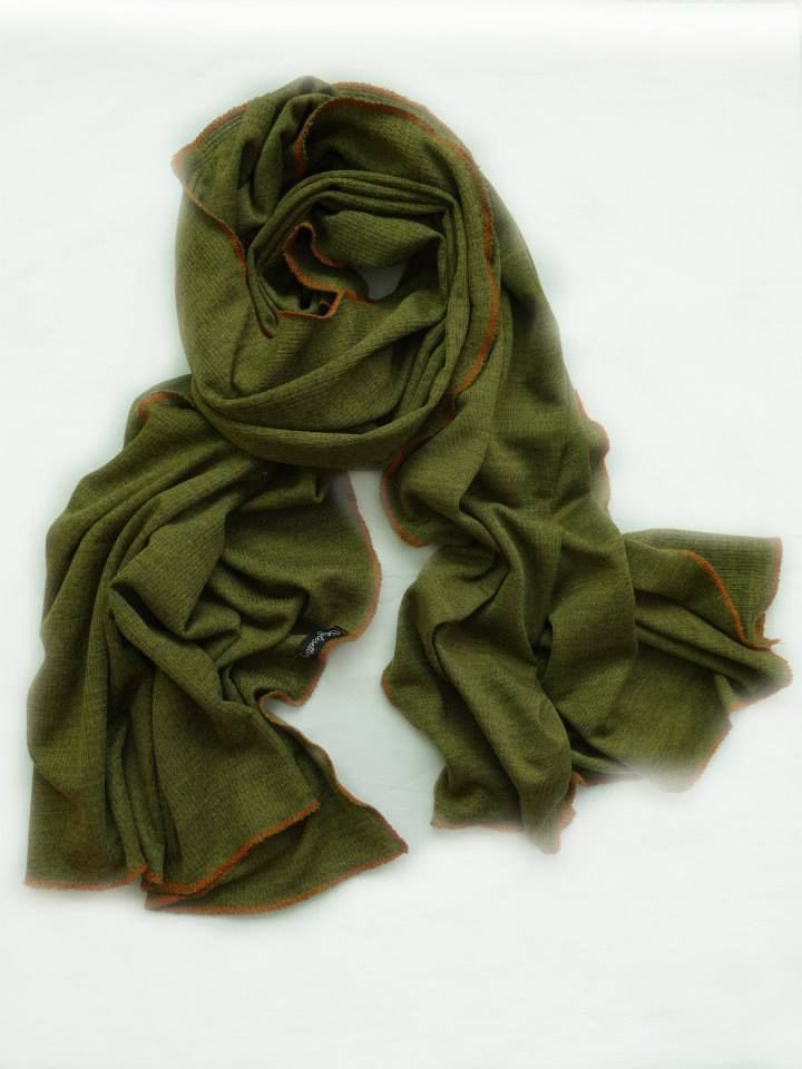 Bring Me My Olives with Orange Stitch by Stylesetterz Handmade Scarves @ www.facebook.com/stylesetterzhandmadescarves