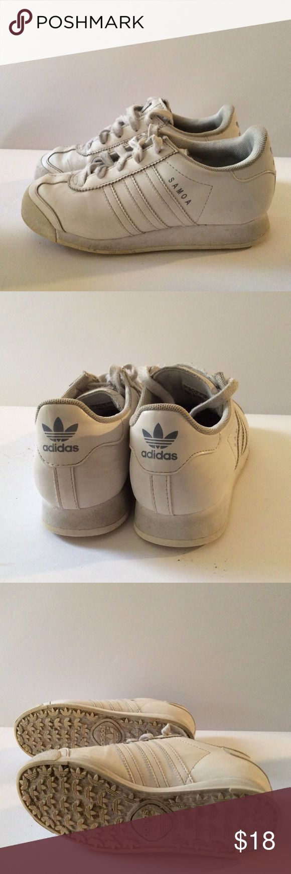 ADIDAS Original 2014 SAMOA  White Sneakers Size 1 Make these yours! 
