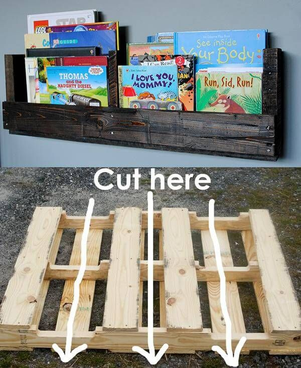 How to Make a Pallet Bookshelf - pallet, bookshelf, creative, DIY