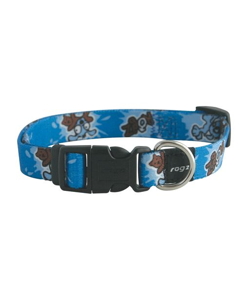 ROGZ YOYO COLLAR FOR PUPPIES - BLUE. Available from www.nuzzle.co.za