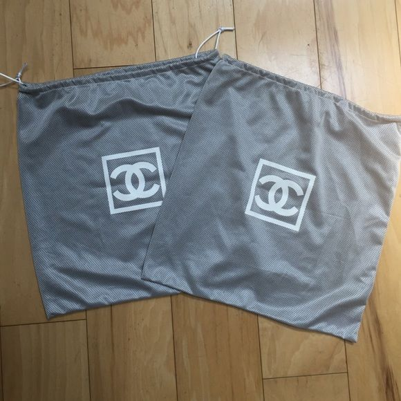 Chanel Sport Dust Bags - pair (2) 2 authentic Chanel Sport dust bags - excellent condition CHANEL Accessories
