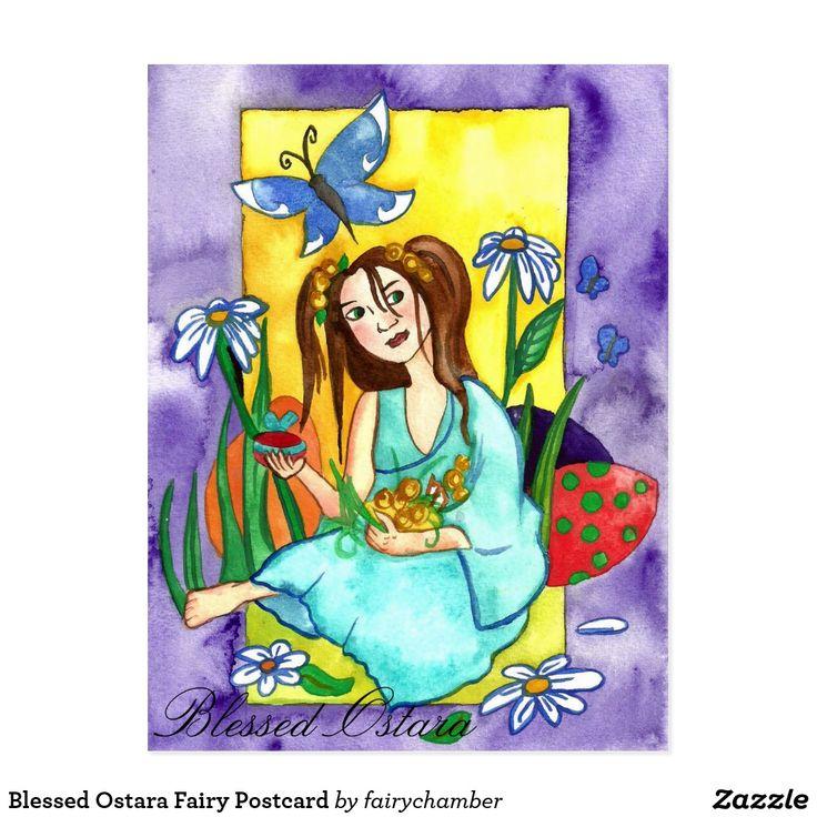 Blessed Ostara Fairy Postcard