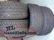 Four P225/65R/17 inch tires